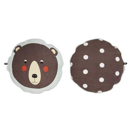 OYOY Cushion Bear brown cotton 40cm
