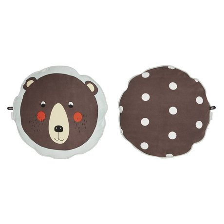 OYOY Kissen Bär braunen Baumwoll 40cm
