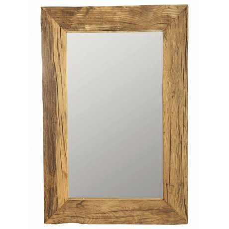 Housedoctor Mirror with frame from recycled wood, Pure natural, 60x90 cm
