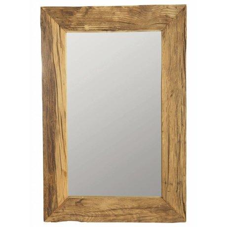 Housedoctor Spiegel mit Rahmen aus recyceltem Holz, Reines, natürliches, 60x90 cm