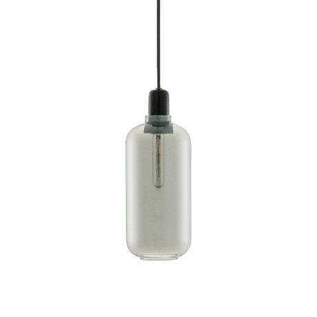 Normann Copenhagen Lampe suspendue Ampère verre noir Ø11,2x26cm