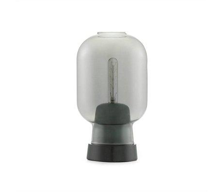 Normann Copenhagen Lampe de table Amp verre noir marbre Ø14x26.5cm