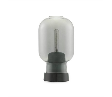 Normann Copenhagen Table lamp Amp black glass marble Ø14x26.5cm