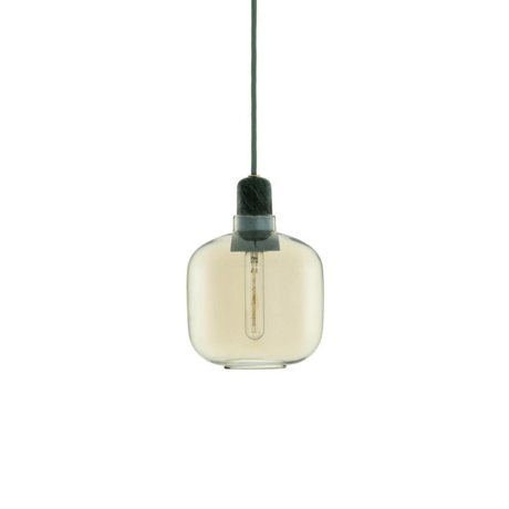 Normann Copenhagen Hanging lamp Amp gold glass green marble Ø14x17cm