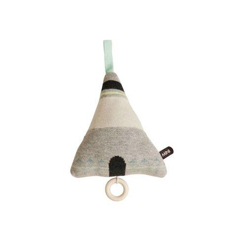 OYOY La musique mobile Wigwam coton gris 15x17cm