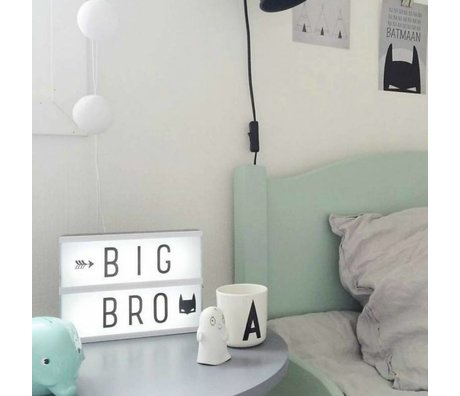 A Little Lovely Company Lampe Lightbox A5 14.8x21cm noir