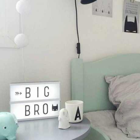 A Little Lovely Company Lampe Lightbox A5 schwarz 14.8x21cm