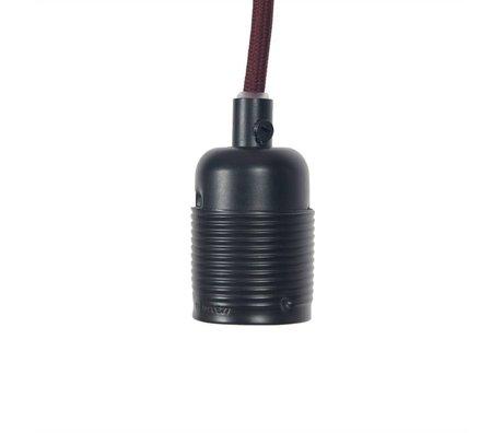 Frama Electrical cord with fitting E27 matt black burgundy metal Ø4x7,2cm