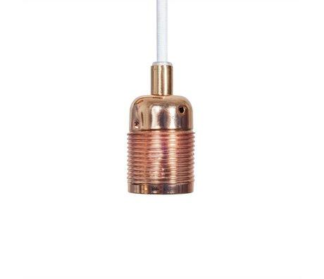 Frama Cordon électrique avec raccord cuivre e27 Ø4x7,2cm de métal blanc