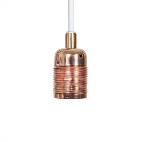 Frama Snoer elektra met fitting e27 koper wit metaal Ø4x7,2cm