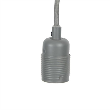 Frama Snoer elektra met fitting e27 grijs metaal Ø4x7,2cm