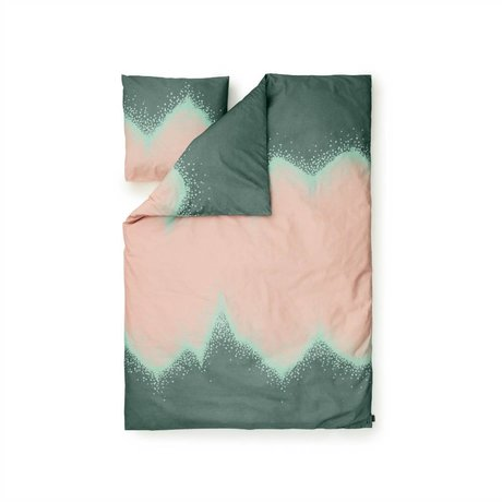 Normann Copenhagen Sprinkle green cotton duvet cover 140x200cm