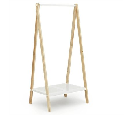 Normann Copenhagen Toj Clothes Rack white steel ash 160x74x59,5cm