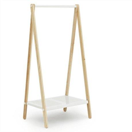 Normann Copenhagen Toj Kleiderständer weiß Stahl Asche 160x74x59,5cm