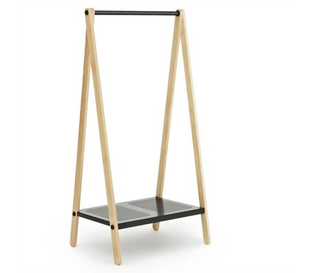 Normann Copenhagen Toj Clothes Rack steel gray ash 160x74x59,5cm