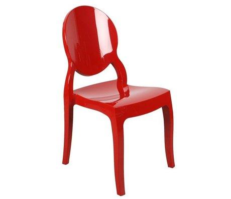 Zuiver Président Elizabeth polycarbonate rouge 90x47x50cm pour extérieur et intérieur