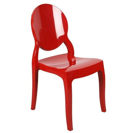 Zuiver Chair Elizabeth red polycarbonate 90x47x50cm for outdoor and indoor