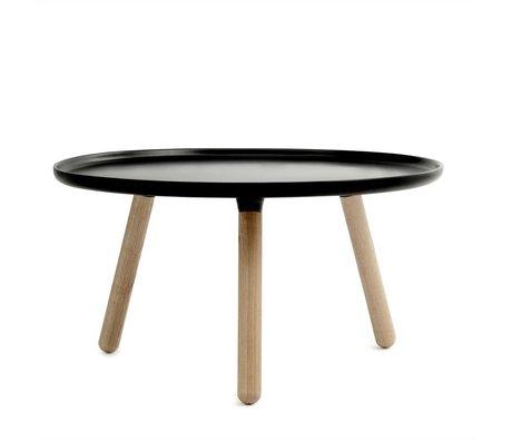 Normann Copenhagen Tablo Tisch aus schwarzem Kunststoff Asche ø78cm