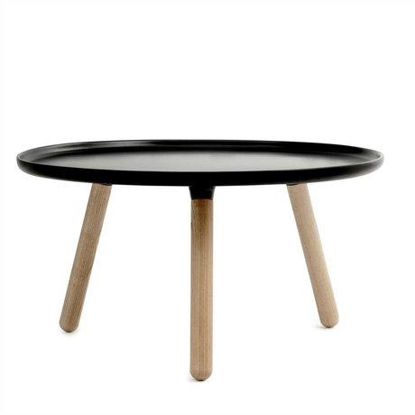 Normann Copenhagen Tafel Tablo zwart kunststof essen hout ø78cm