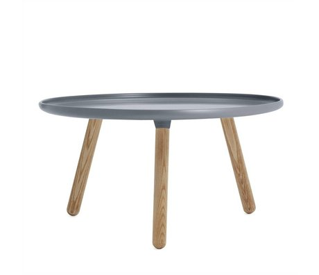 Normann Copenhagen Table Tablo plastique gris cendre ø78cm