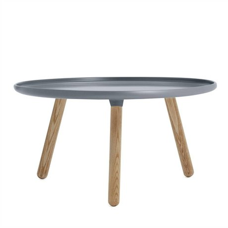 Normann Copenhagen Tablo Tisch grauem Kunststoff ø78cm Asche