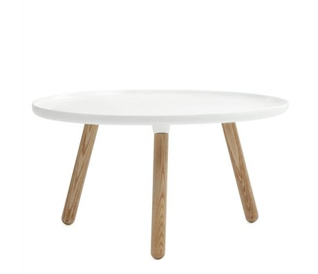 Normann Copenhagen Table Tablo plastique blanc cendres ø78cm