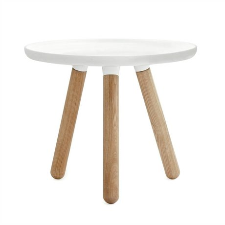 Normann Copenhagen Table Tablo plastique blanc cendres Ø50cm