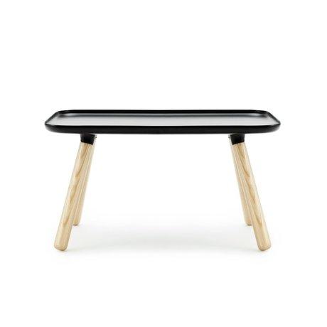 Normann Copenhagen Tablo Tisch Rechteck aus schwarzem Kunststoff Asche 42x78x45cm