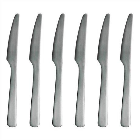 Normann Copenhagen Mes Normann Cutlery roestvrij staal set van 6