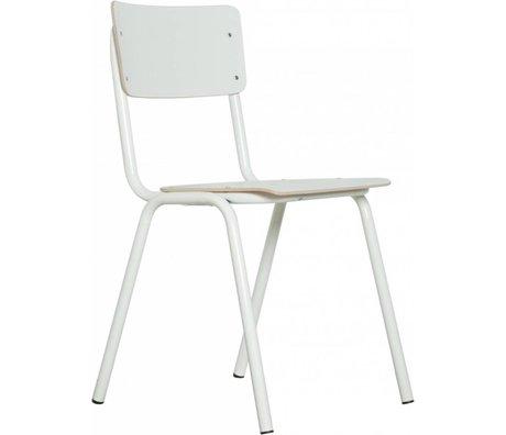 Zuiver Zurück in der Schule Stuhl weiß 43x38x83