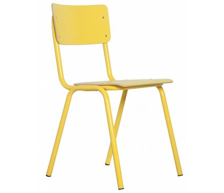 Zuiver Back to school yellow chair 43x38x83