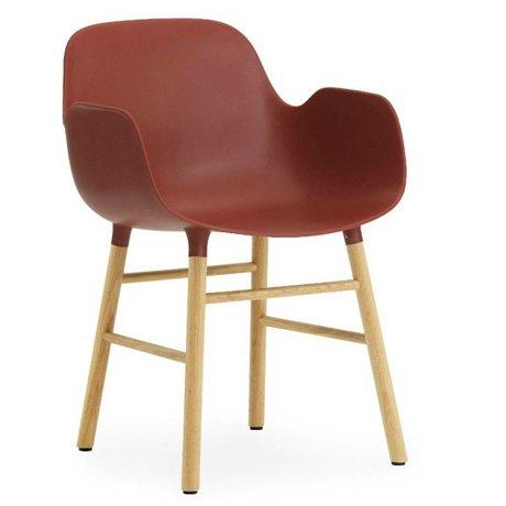Normann Copenhagen Stuhl mit Armlehnen Bilden Kunststoff Roteiche 79,8x56x52cm