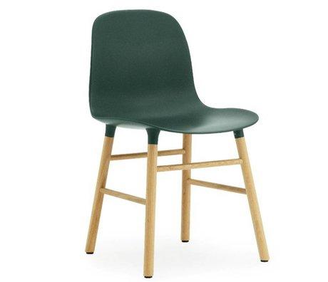 Normann Copenhagen Former plastique vert chaise chêne 78x48x52cm