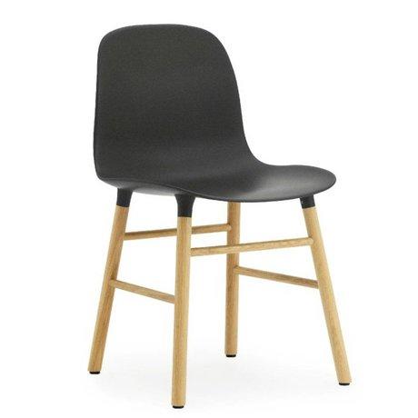 Normann Copenhagen Former plastique noir chaise chêne 78x48x52cm