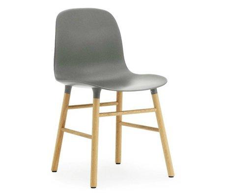 Normann Copenhagen Chaise en plastique de forme chêne gris 78x48x52cm