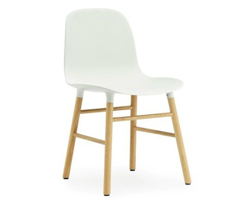 Normann Copenhagen Chaise en plastique de forme chêne blanc 78x48x52cm