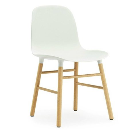 Normann Copenhagen Form plastic chair white oak 78x48x52cm