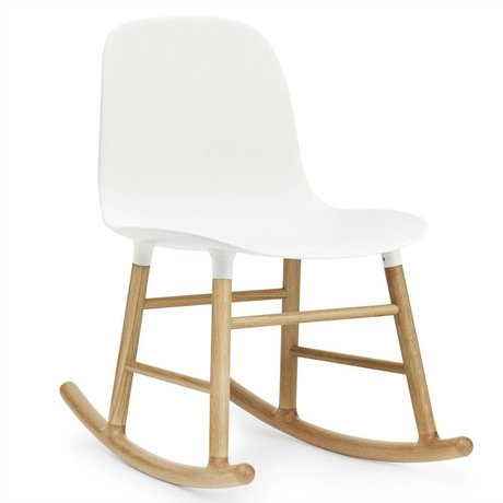 Normann Copenhagen Form plastic rocking chair white oak 73x48x65cm