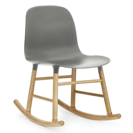 Normann Copenhagen Rocking Form gray plastic oak 73x48x65cm
