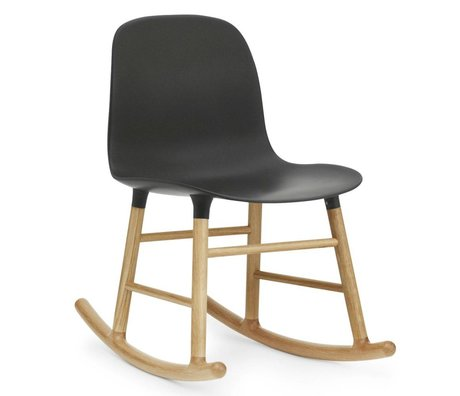 Normann Copenhagen Rocking Form black plastic oak 73x48x65cm