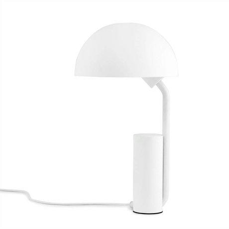 Normann Copenhagen Lampe de table Cap ø28x50cm en plastique blanc