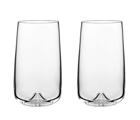 Normann Copenhagen Glass Long drink glass set of two ø8x13,6cm