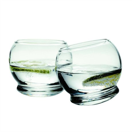 Normann Copenhagen Rocking glass glass set of 4 ø9x8cm