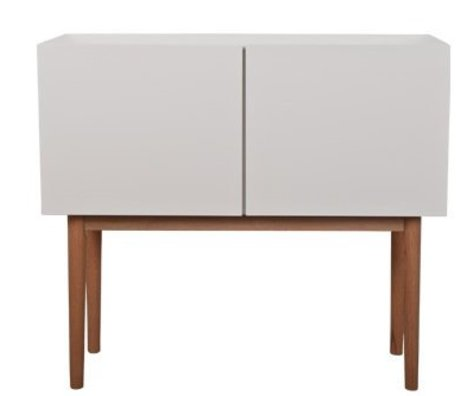 Zuiver Sideboard white MDF natural oak 90x40x80 cm, CABINET HIGH ON WOOD 2DO