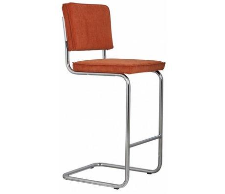 Zuiver Tabouret de bar orange, tricot 48x50x113cm RIDGE barres d'outils RIB ORANGE 19A