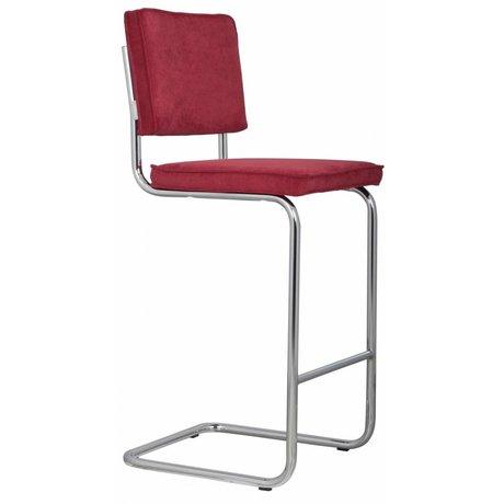 Zuiver Barstool red knit 48x50x113cm RIDGE TOOL BARS RED RIB 21A