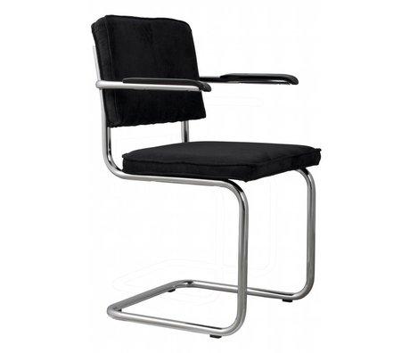 Zuiver Dining Stuhl mit Armlehne schwarz stricken 48x48x85cm BLACK RIDGE SESSEL 7A
