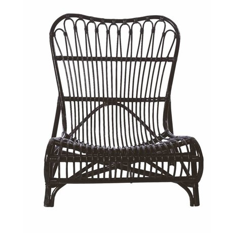 Housedoctor Chair black bamboo 90x55x80cm, Lounge Chair Colone black