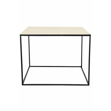 Housedoctor Cube coffee table with brass metal base 60x60x45cm