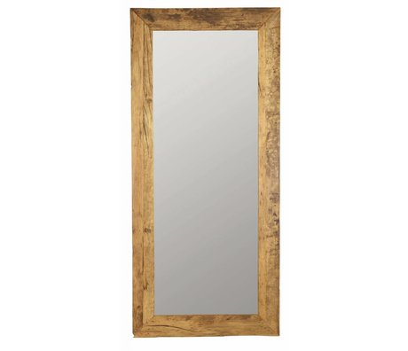 Housedoctor Spiegel bruin naturel gerecycled hout 95x210cm, Mirror Pure nature
